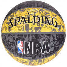 Мяч баскетбольный Spalding NBA Graffiti Outdoor Grey/Yellow Size 7