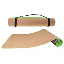 Коврик (мат) для йоги и фитнеса SportVida TPE+Cork 0.4 см SV-HK0317