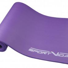 Коврик (мат) для йоги и фитнеса SportVida NBR 1 см SV-HK0068 Violet