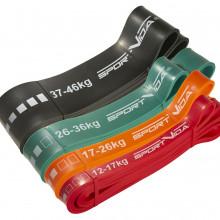 Эспандер-петля (резина для фитнеса и спорта) SportVida Power Band 4 шт 12-46 кг SV-HK0190-4
