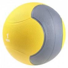 Мяч медицинский 1 кг. (медбол) LiveUp Medicine Ball (желто-серый)