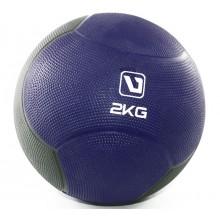 Мяч медицинский 2 кг. (медбол) LiveUp Medicine Ball (темносине-серый)