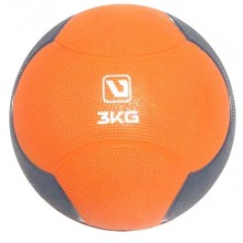 Мяч медицинский 3 кг. (медбол) LiveUp Medicine Ball (оранжево-серый)