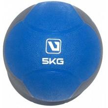 Мяч медицинский 5 кг. (медбол) LiveUp Medicine Ball (сине-серый)