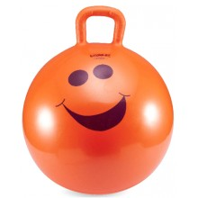Мяч для фитнеса 45 см. (фитбол с ручкой) LiveUp Hopping Ball (оранжевый)