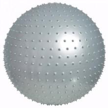 Мяч для фитнеса 65 см. (массажный фитбол) LiveUp Massage Ball (серый)