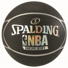 Баскетбольный мяч Spalding NBA Highlight Black Silver/Black Blue