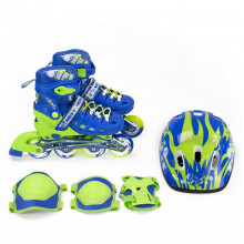Роликовые коньки Nils Extreme NA1015A Set Size 31-34 Blue