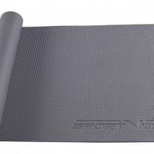 Коврик (мат) для йоги и фитнеса SportVida PVC 6 мм SV-HK0054 Grey