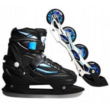 Роликовые коньки SportVida 4 в 1 SV-LG0029 Size 35-38 Black/Blue