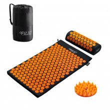 Коврик акупунктурный с валиком 4FIZJO Аппликатор Кузнецова 72 x 42 см 4FJ0042 Black/Orange