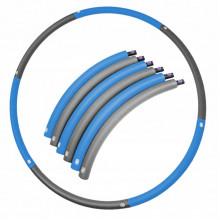 Обруч массажный Hula Hoop SportVida 90 см SV-HK0216 Grey/Blue