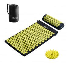 Коврик акупунктурный с валиком 4FIZJO Аппликатор Кузнецова 72 x 42 см 4FJ0086 Black/Yellow