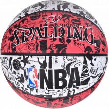 Мяч баскетбольный Spalding NBA Graffiti Outdoor White/Red Size 7