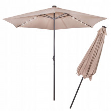 Зонт садовый с LED подсветкой (автономная) Springos 300 см GU0006