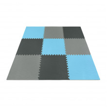 Мат-пазл (ласточкин хвост) 4FIZJO Mat Puzzle EVA 180 x 180 x 1 cм 4FJ0156 Black/Grey/Light Blue
