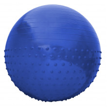 Мяч для фитнеса (фитбол) полумассажный SportVida 65 см Anti-Burst SV-HK0292 Blue