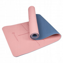 Коврик (мат) для йоги и фитнеса Springos TPE 6 мм YG0014 Pink/Blue