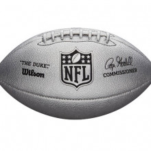 Мяч для американского футбола Wilson Duke Metallic Edition Silver (стандартный размер) WTF1827XB