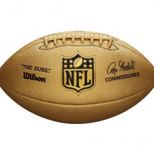 Мяч для американского футбола Wilson Duke Metallic Edition Gold (стандартный размер) WTF1826XB