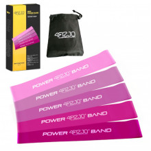 Резинка для фитнеса и спорта (лента-эспандер) 4FIZJO Mini Power Band 5 шт 1-20 кг 4FJ0186