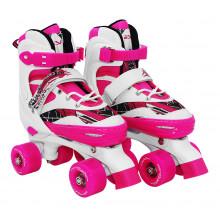 Роликовые коньки (квады) SportVida SV-LG0054 Size 31-34 White/Pink