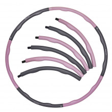 Обруч массажный Hula Hoop SportVida 100 см 1.2 кг SV-HK0338 Grey/Pink