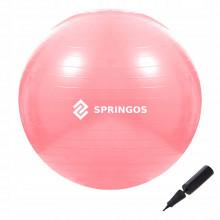 Мяч для фитнеса (фитбол) Springos 75 см Anti-Burst FB0012 Pink