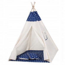 Детская палатка (вигвам) Springos Tipi XXL TIP08 White/Blue